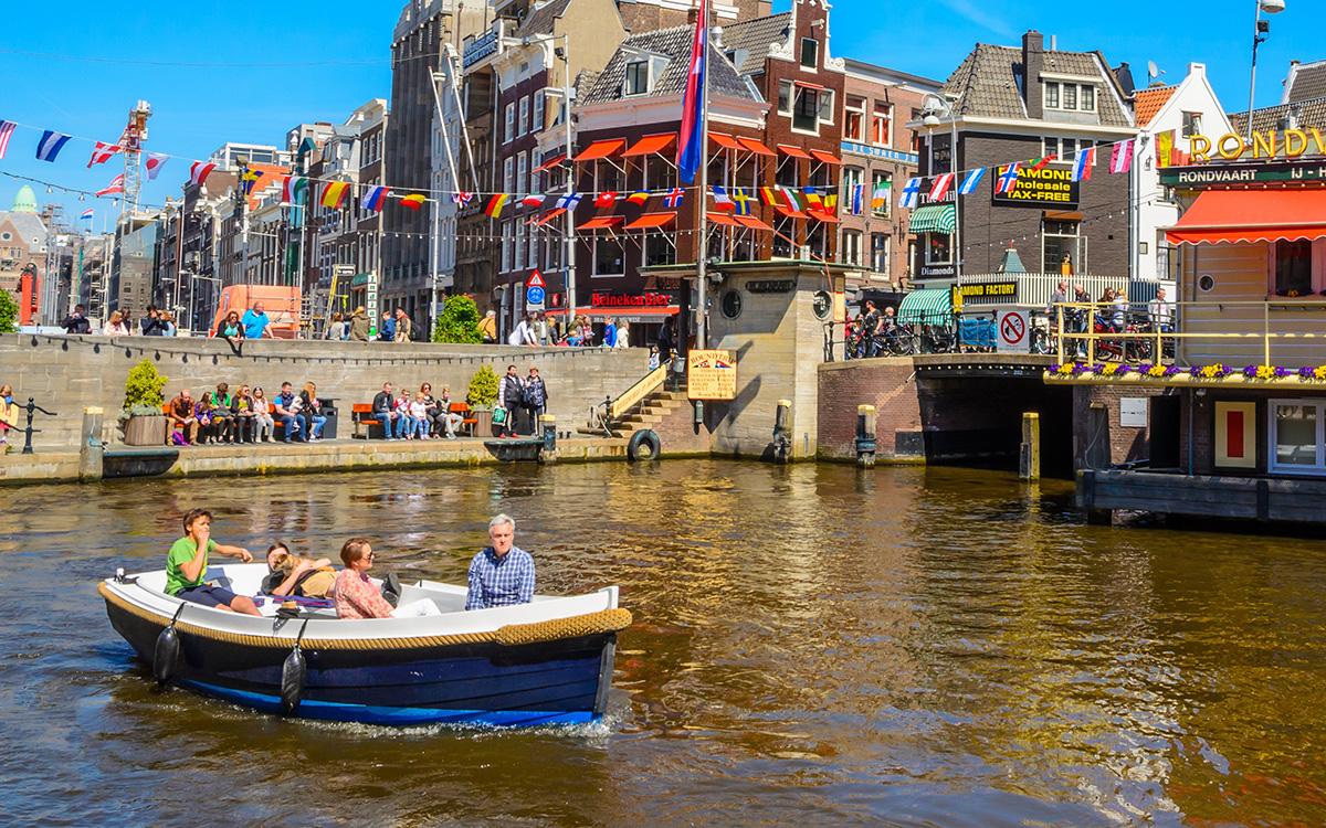 Amsterdam Utrecht Leiden Haarlem zelf varen boot